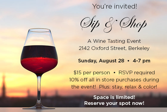 Sip and Shop Wine Tasting - 8/28/16