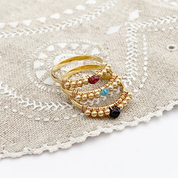Semiprecious Birthstone Ring