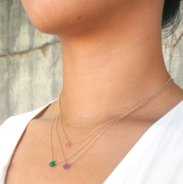 Single Birthstone Necklace