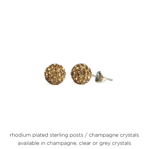 Glitterball Post Earrings - 8mm