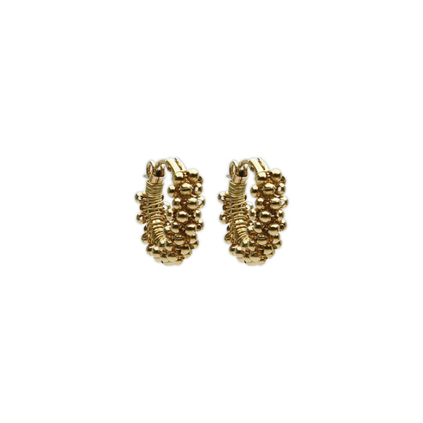 14k Gold Small Spiral Hoops