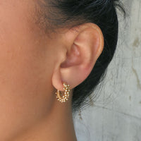 ".75"" Small Signature Spiral Hoops"
