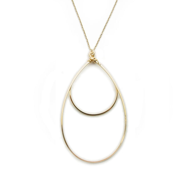 Small Double Hoop Necklace