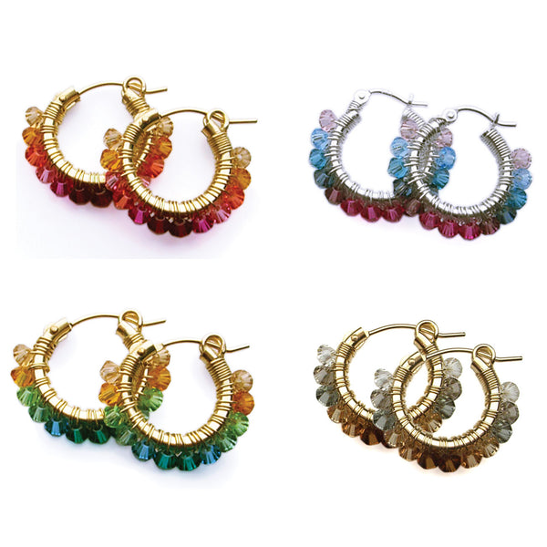 Ombre Signature Wrap Hoops