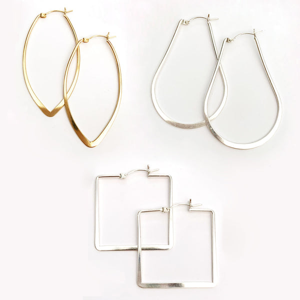 Smooth Hoops - Arrow/Teardrop/Square