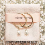 Birthstone Drop Hoops
