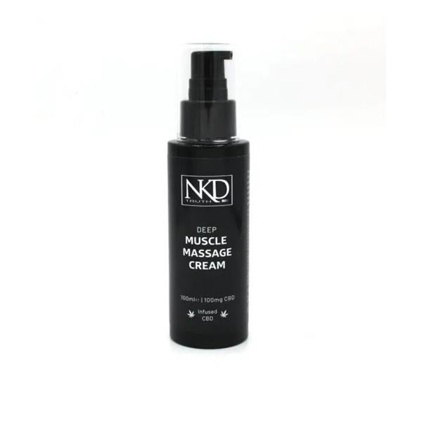 NKD 100mg CBD Deep Muscle Massage Cream - 100ml