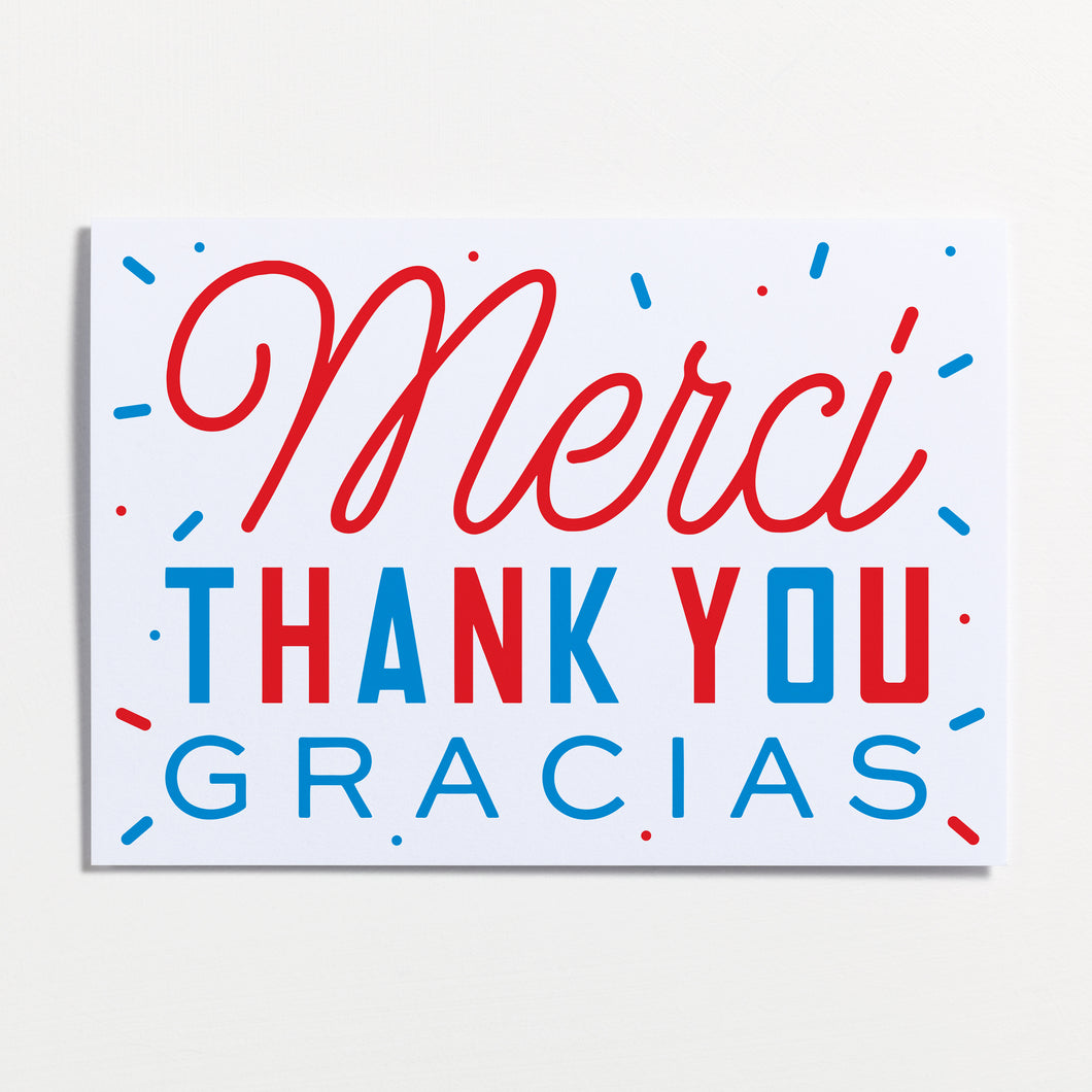 Merci / Thank You / Gracias Greeting Card