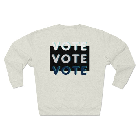 Black Triple Vote Sweatshirt