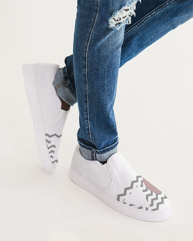 Zig Zag Vote Slip-On Canvas Shoe