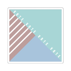 Pastel Geometric votevotevote Sticker