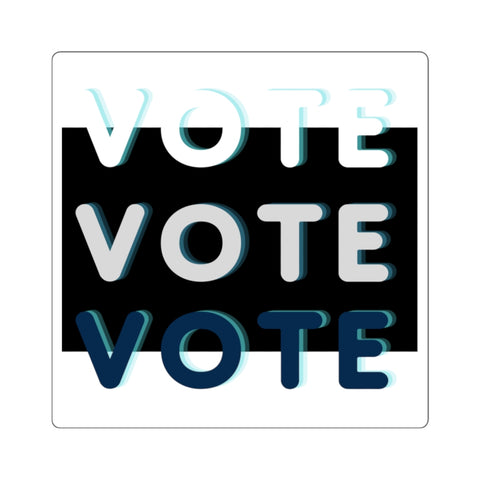 Black Triple Vote Sticker