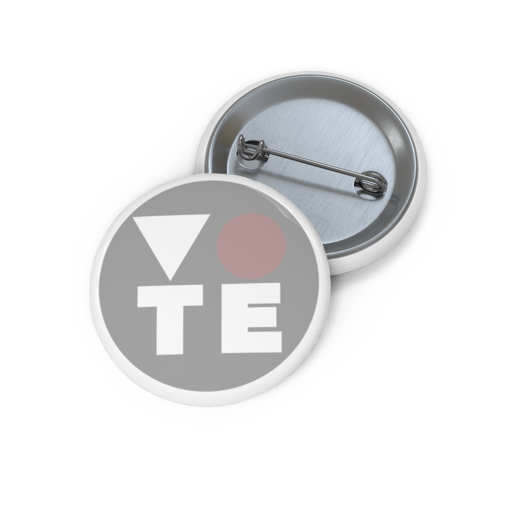 Simple Grey Vote Pin Buttons