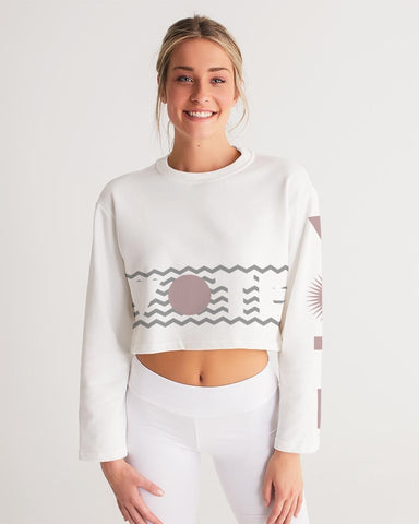 Zig Zag Vote Cropped Sweatshirt