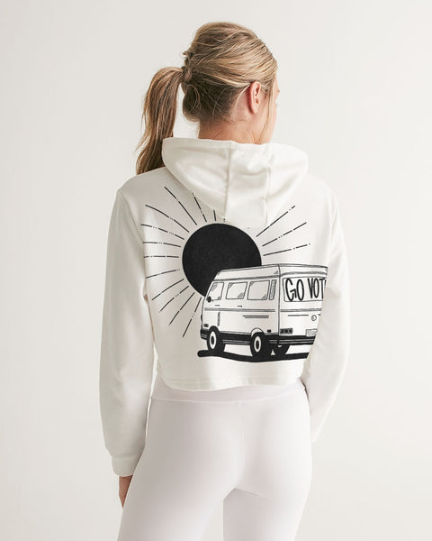 Vote5_KinseyH_Transparent Women's Cropped Hoodie