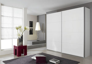 Rauch Quadra Sliding Wardrobe with Full Glass Front