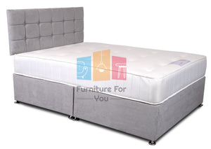 Essential Suede Divan Bed Set
