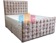 Load image into Gallery viewer, Platinum Cubed Plus Divan Bed Set