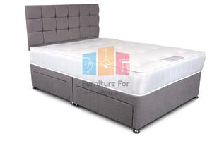 Platinum Wool Divan Bed Set - Furniture For You Ltd
