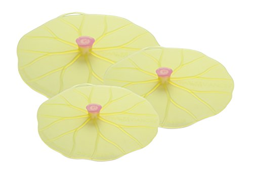 Charles Viancin Lilypad Lid Set of 3 - Large, Medium, Med/Small