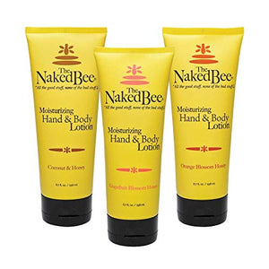 The Naked Bee Orange Blossom Honey, Grapefruit Blossom Honey and Coconut Honey, Hand & Body Lotion, 6.7 Oz - 3 Pack