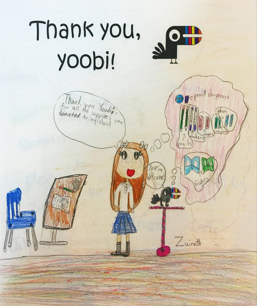 Yoobi Art and Thank You's
