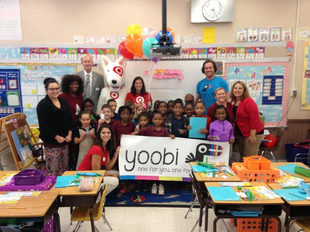 Delivering Yoobi Classroom Packs in Tampa, Florida