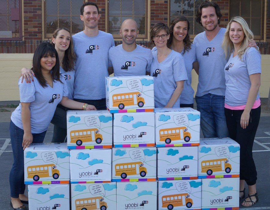 Behind The Scenes: Yoobi Delivers Classroom Packs to Dorris Place Elementary