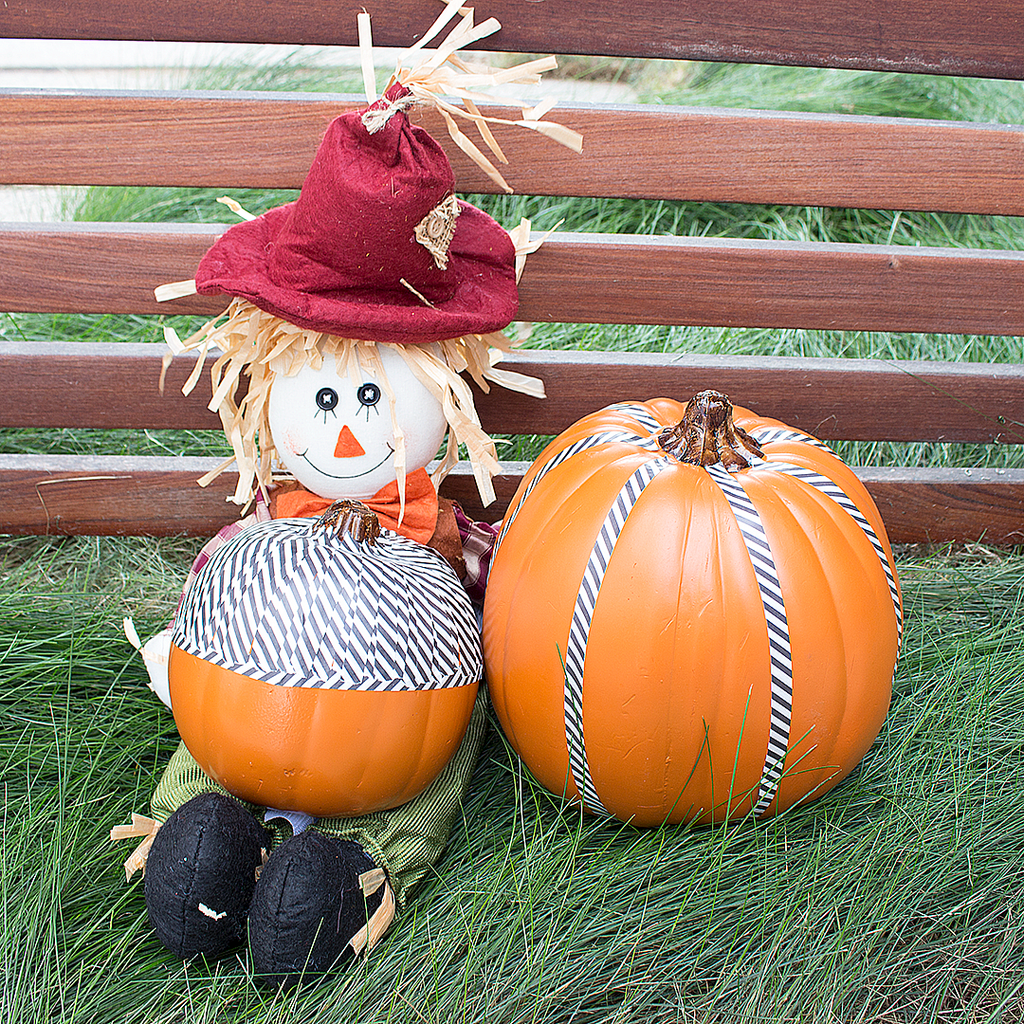 DIY Pumpkin Decorating with Yoobi Washi Tape