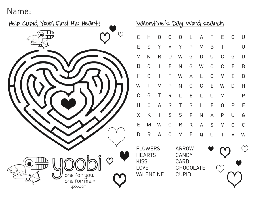 February Activity Pack: Valentine's Day and President's Day!
