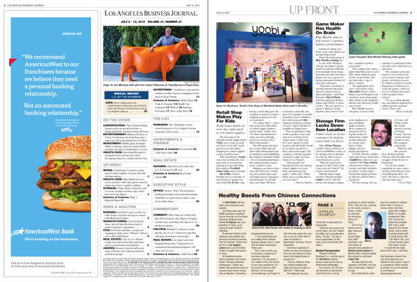 LA Business Journal, July 2015
