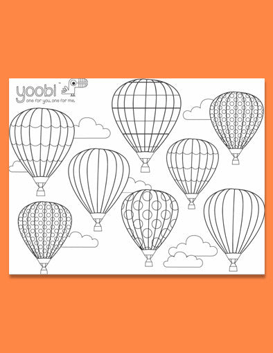 Up In the Air Adult Coloring Sheet