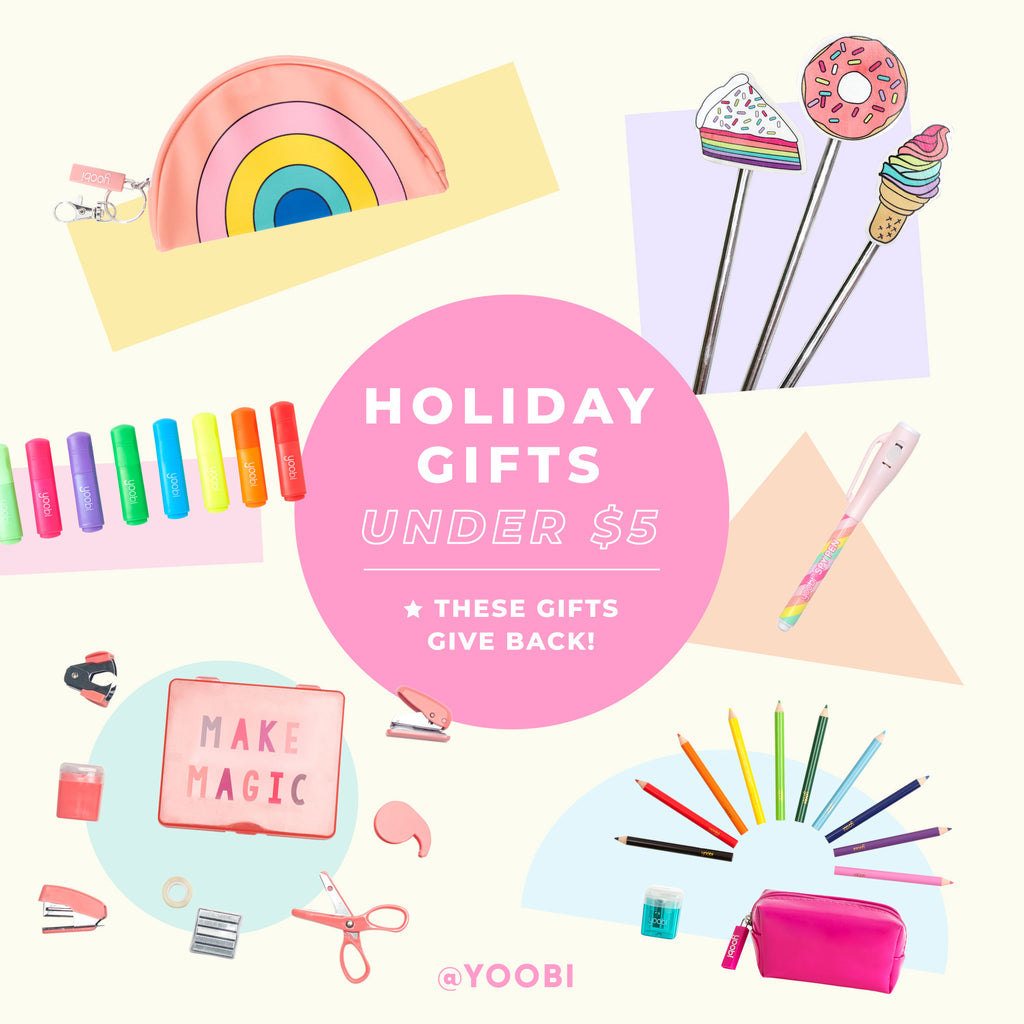Yoobi Holiday Gift Guide - Gifts Under $5