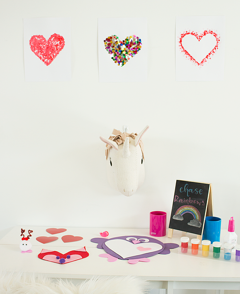DIY Valentine's Heart Art Decorations