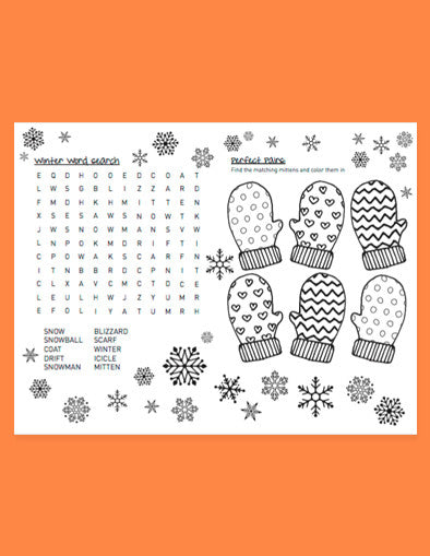 Holiday Fun Activity Sheet