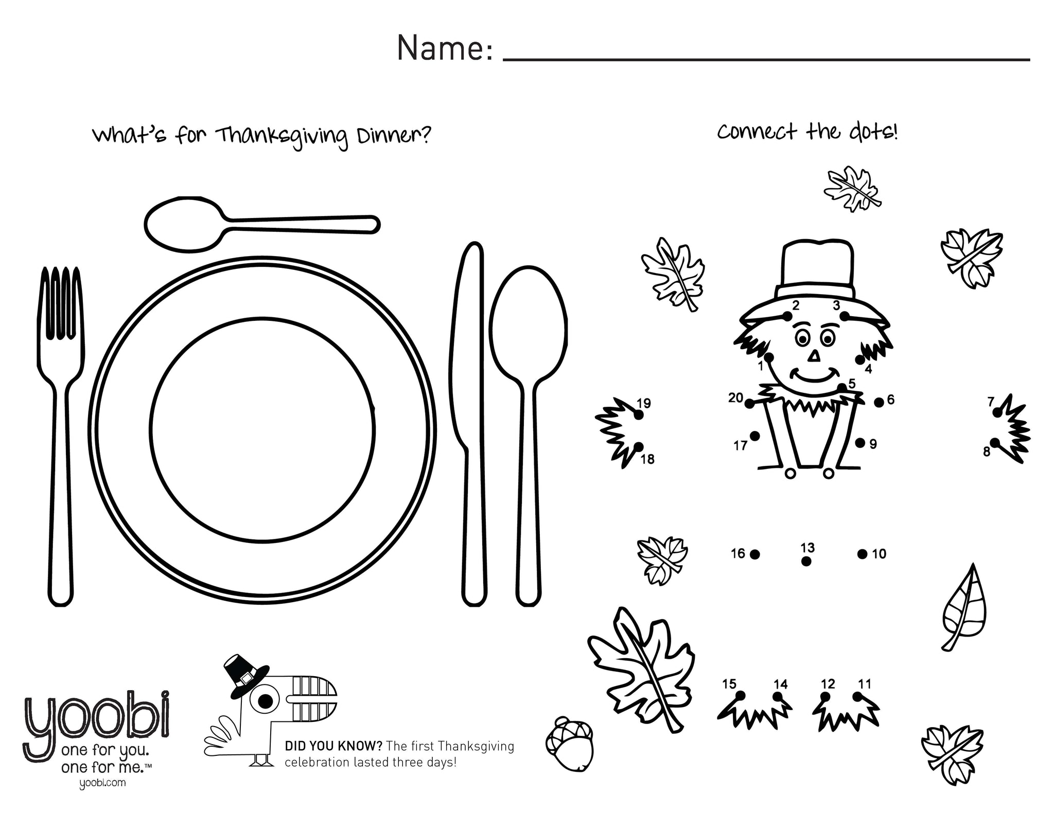 Holiday Activity Sheets - Yoobi