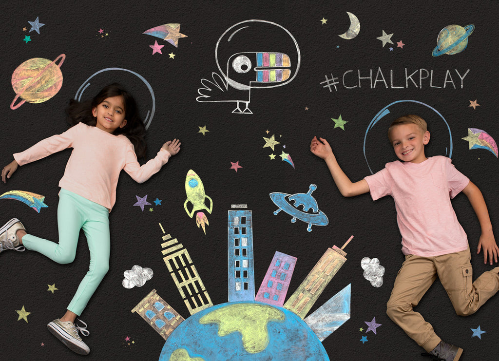 Get creative with Yoobi chalk play!