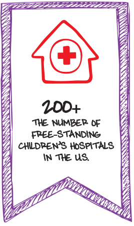 200+ the number of free-standing children's hospitals in the U.S.