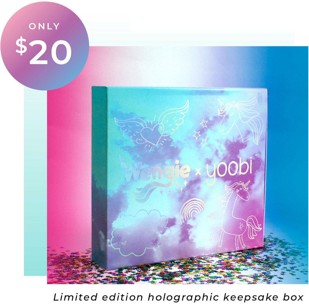 Limited edition holographic keepsake box
