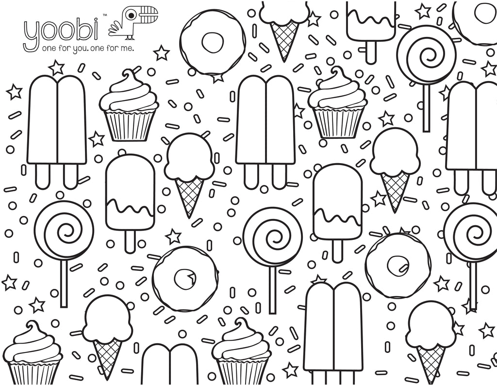 Sweet Treats Online Coloring Pages Page 1 Sketch Coloring Page