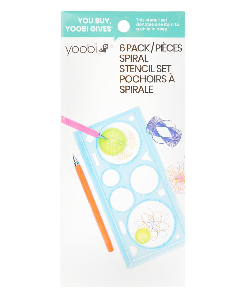 Spiral Stencil Kit, 6 Pack - Multicolor