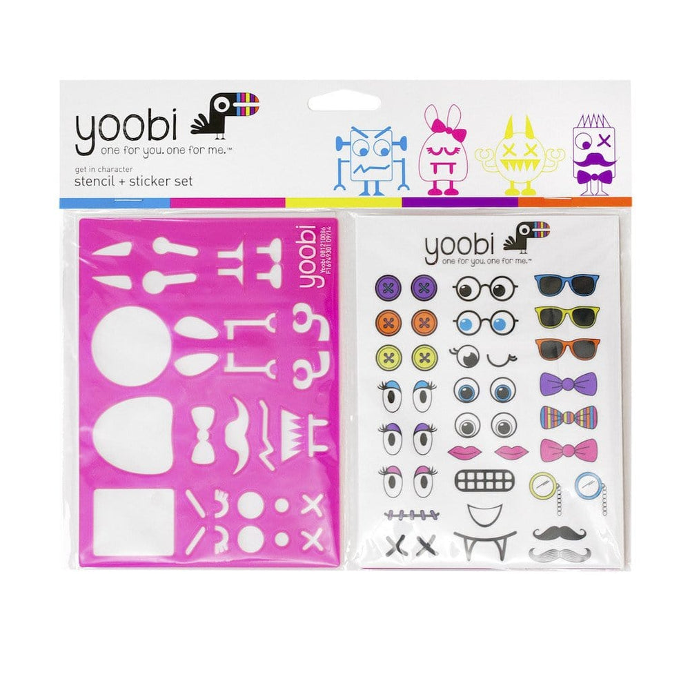 Stencil & Sticker Set, 6 Pack