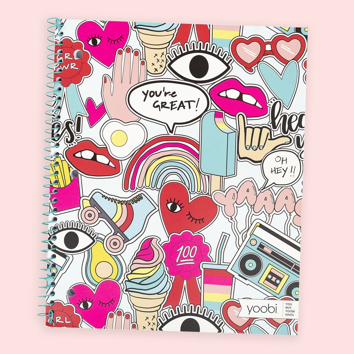 1 Subject Spiral Notebook, College Ruled - Jumbo Stickers
