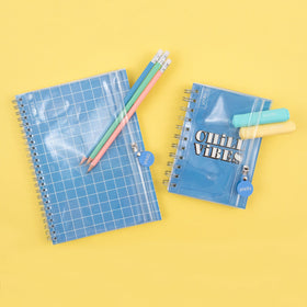 2pk Journals w/ Pocket - Blue