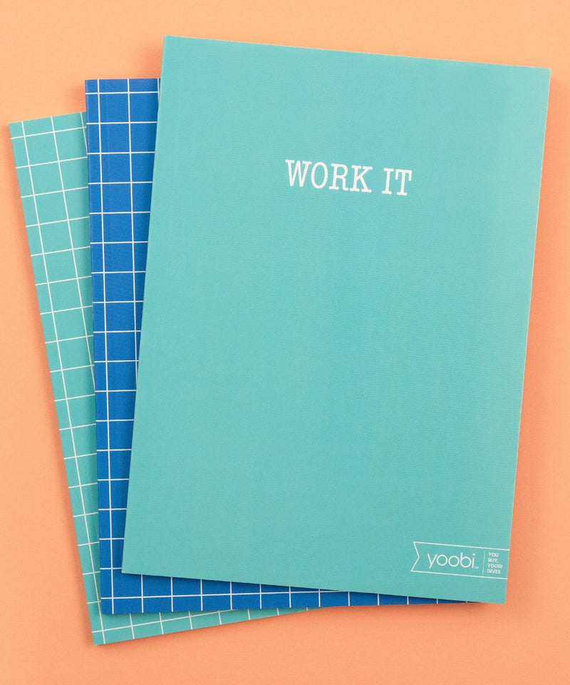3 Pk Notebook - Work it