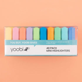 Mini Highlighters, 40 pack - Multicolor