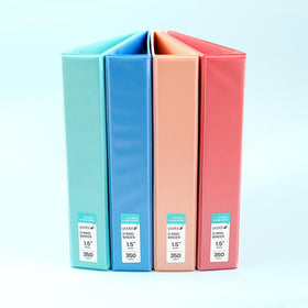 1.5 Inch Binder - 4 Pack, Multicolor