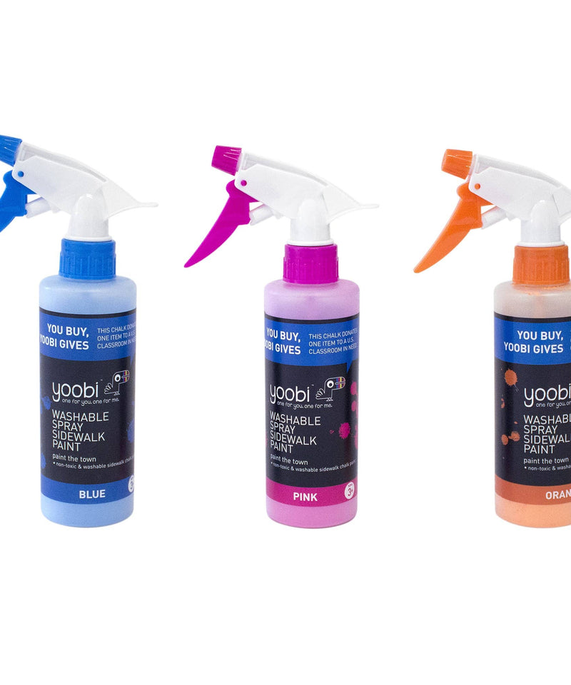 Washable Spray Sidewalk Paint 3pk - Multicolor