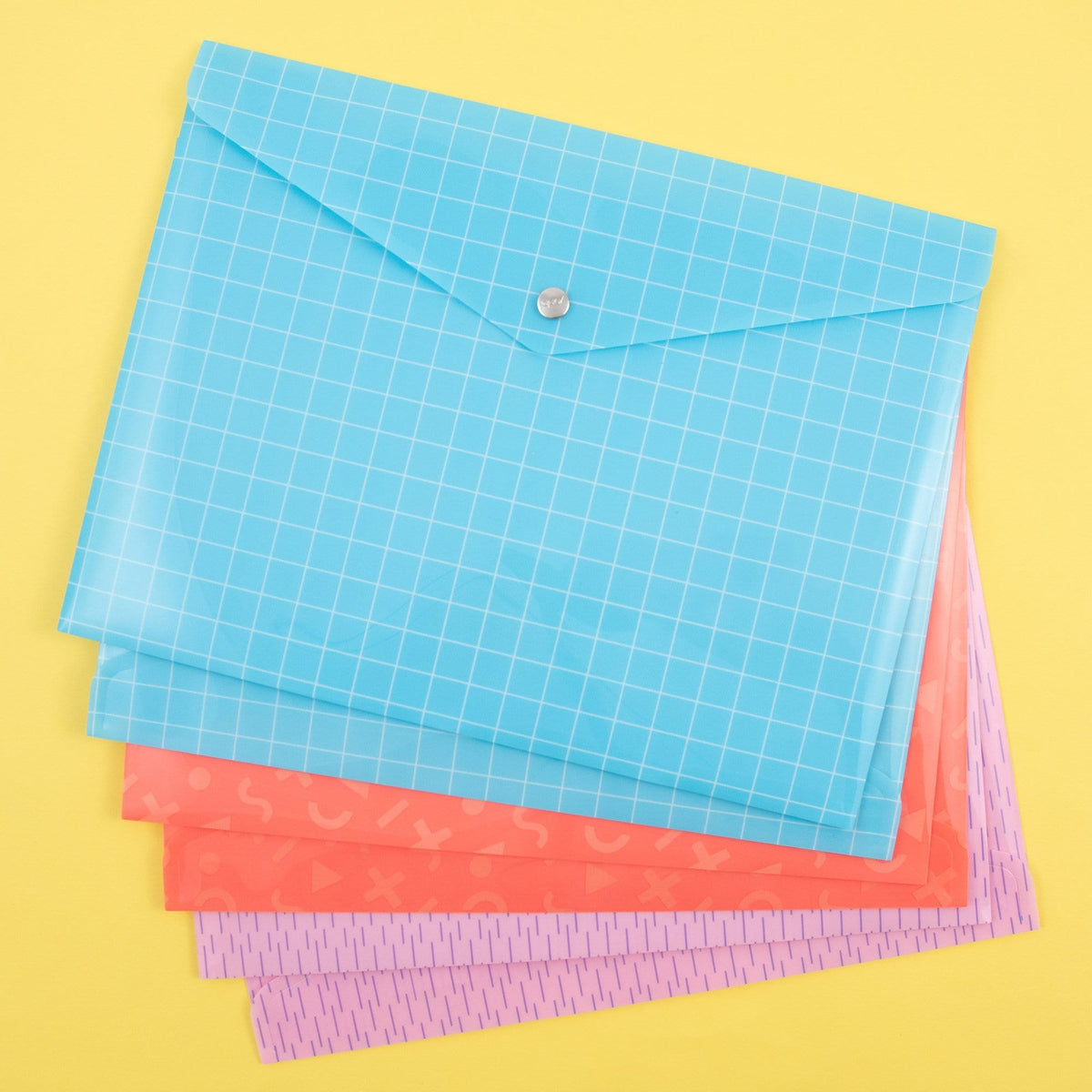 6 Pk Document Envelopes - Multicolor