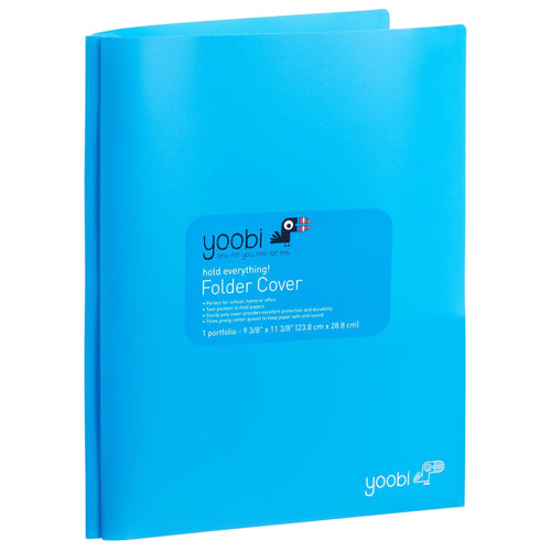 Folder with Prongs - Blue